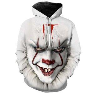 Horror Movie IT Chapter 2 3D Print Hooded Sweatshirt Men's Fashion Streetwear Loose Sweatshirt IT Clown Print Pattern Hoodie
