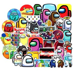 50PCS Game Among Us Sticker For Children Space Ship Cartoon Cute Decal Stickers to DIY Phone Laptop Suitcase Stationery Guitar