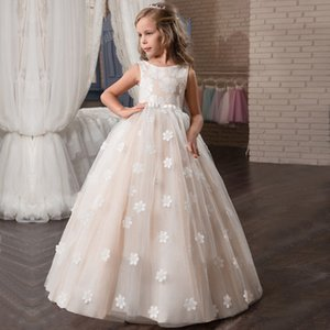 Flower Girls Dress for Wedding Teenage Children Princess Party Long Graduation Gown Baby Kids Dresses for Girl Summer Clothes Z1127