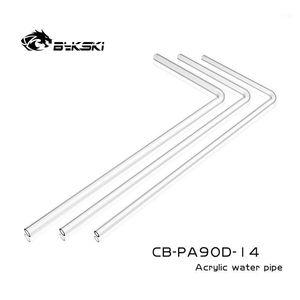 Bykski Transparent Acrylic Hard tube14MM 50cmx20cm 90 degree pre-bending high temperature resistant tube CB-PA90D-141