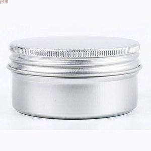 Crema tarro caliente venta de cosméticos tarros de almacenamiento de cosméticos Viaje Caja de vela redonda de aluminio Metal Lata Contenedor 80ml 50pcs / lotgoods