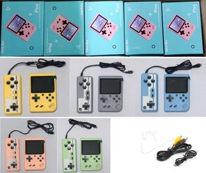 Mini Palmare Macaron Game Console 500 in 1 Retro Video Game Game Console 8 Bit 3 pollici Supporto LCD colorato Due giocatori con pacchetto al dettaglio