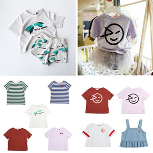 Fashion Kids T Shirt Summer Clothing wynken Baby Boys White T Shirt Girls Hawaii Clothes Smile Print Tops For Kids Boys tshirt C1223