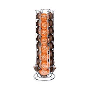 24 Tassen Kaffee Drehbare Padhalter Eisen-Chrom-Überzug-Display-Kapsel Rackwagen Abstellflächen für Dolce Gusto Kapsel Y1116