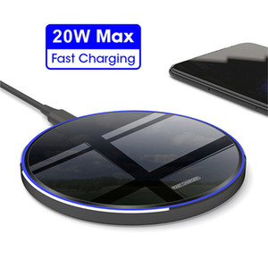 20W Qi Wireless Charger For Samsung Xiaomi huawei For iPhone 12 mini Pro max 11 Xs XR Induction Fast Wireless Charging Pad DHL Free