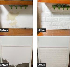 70*77 10pcs 3d Brick Wall Sticker Diy Self-adhesive Decor Foam Waterproof Covering Wallpaper For Kids Room jllgBd yeah2010