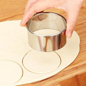 Herramienta de corte de masa de la envoltura de pastelería para cookie 3 unids / set Cutter Fabricante Herramienta de acero inoxidable Tarañas redondas envueltas Moldes Conjunto DWF3326