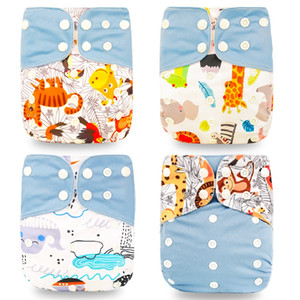 HOt Sale OS Pocket Diaper 1PC Washable &Reusable Baby Nappy New Print Adjustable Baby Diaper Cover MARTIN799