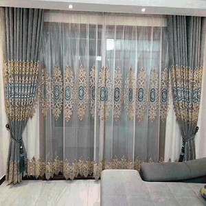 European Schneider Geometric Shading Curtains for Living Dining Room Bedroom.