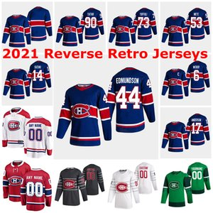 Montreal Canadiens 2021 Jerseys Retro Reverse 17 Josh Anderson Jersey 44 Joel Edmundson 34 Jake Allen 31 Carey Preço 13 Max Domi Personalizado