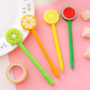 Lemon Fruit Ballpoint Pens Creative Gel Pen Cartoon Ballpoint Pen Fruit And Vegetable Shape Ballpoint Pens