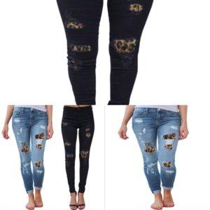 Qxi up talla mujeres alta cintura empuje jeans jeans alto elástico flaco para las señoras estiradas mamá jeans mujer lavada denim más lápiz casl dama