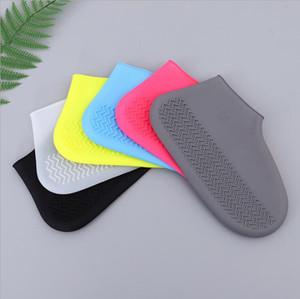 ماء حذاء الغلاف سيليكون المواد للجنسين أحذية حماة أحذية المطر للأيام الممطرة في الأماكن المغلقة reusable DWB3389