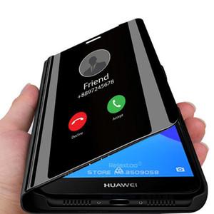Smart Mirror Case For Huawei Y5 Lite Y6 Y7 Prime Y9 2018 Cover Cases For Huawei Y9 Y7 Y6 bbySZE