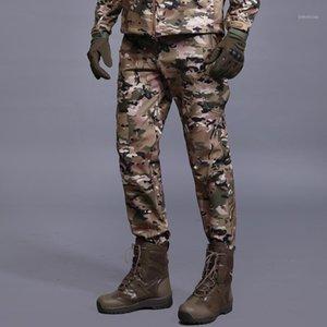 Открытый камуфляж Туричные брюки Мужчины Мягкая оболочка Теплый флис боевые тактические брюки лагеря Рыболовные брюки S-3XL1