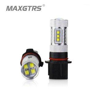 2x 30W 50W 80W voiture p13w sh24w drl cree puce LED xbd frontale jour jour brouillard léger brouillard lumineux ampoules de remplacement blanc / rouge / amber1