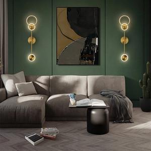 ArtPad Nordic Lampada da parete interna di lusso LED per camera da letto Sfondo comodino decorazione di rame decorazione della parete creativa Sconce 220V