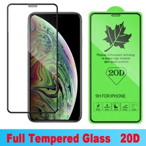 20D Full Cover Tempered Glass For iPhone 12 12 mini Pro X XR XS Max Screen Protector For iPhone 6 6s 7 8 Plus SE Protective Film