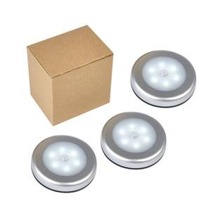Corredor de pared LED LED Cuerpo Humano Inducción Lámparas de detección inteligentes Luces circulares Colors Blanco y amarillo Fácil de instalar Nuevo 8 5JX N2