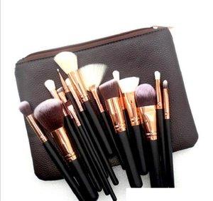 2020 Brand high quality Makeup Brush 15PCS Set Brush With PU Bag Professional Brush For Powder Foundation Blush Eyeshadow