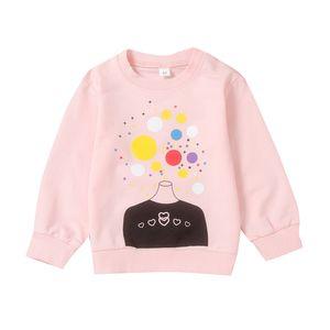 Kids Girl Autumn Cartoon Print Sweatshirts Tops Clothing Casual Blouse Long Sleeve Outerwear Costume Kids T-shirt Jacket