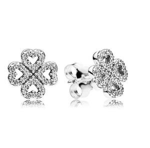 925 الأقراط الفضة الاسترليني أقراط الماس وأقراط للنساء مصممين القرط لأسلوب باندورا مع المربع الأصلي