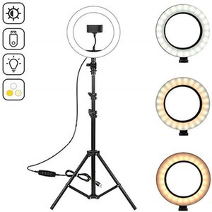 "10.2"" LED Ring Light Photographic Selfie Ring Lighting with 50 70 160 125cm Tripod Stand for Youtube Live Video Studio Tik Tok LJ200910"