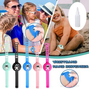 Portable Cartoon Sanitizer Pumps Disinfectant Hand Dispenser Bracelet Wristband Christmas Gifts For Adults And Kids OWE1976