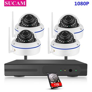 SUCAM 4CH Surveillance NVR 1080P WIFI IP Camera 2.0MP Dome Wireless kit WiFi Camera P2P 2MP CCTV Security System kit
