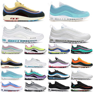 97 97s Mens Chunky Dunky Shoes Sean Wotherspoon Silver Bullet Triple White Black MSCHF x INRI Women trainers Athletic Sports Sneakers 36-45