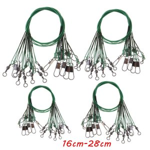 100pcs lot 16cm-28cm Mixed Anti-bite Steel Wire Fishing Lines Stainless Steel Snaps & Swivels Pesca Fishing Tackle Accessories SF_224