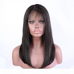 360 Dantel Açık Peruk Öncesi Mızraplı Doğal Düz Real Ucuz Virgin Brezilyalı Tutkalsız 360 Frontal Tam Dantel İnsan Saç Peruk İçin Siyah Kadınlar