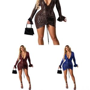 Axhe Pie Stay Short Prom Sets Casual Sexy Womens Twodress Sleeve Dress Designer 2018 Vestido vestido Dos paneles
