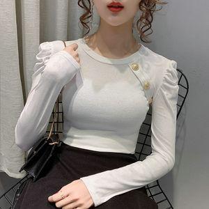 Fashion Slim T-shirt Long Sleeve Round Collar Women's Tops Spring Autumn Tshirt Sexy Skinny Ladies Tshirt