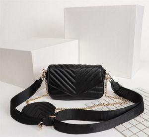 Genuine Pelle 53936 Favore Preferito Borsa di lusso Fashion Messenger Bag Ladies Bag preferito Multi Pochette New Wave 4 Colors