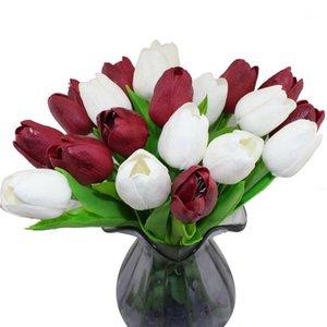 CCINEE 10 ADET PU Tulip Çiçek Bir Lot1