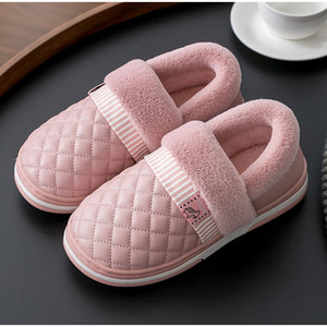 MCCKLE Women Slippers House Winter Flats Couple Slip On Plush Warm Female Fluffy Indoor Non Slip Waterproof Woman Shoes LadiesZ1127