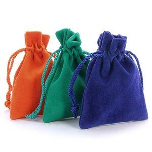 10 pcs 7x9cm Retângulo Embalagem de Embalagem de Velvet Bolsa Sacheta Sacha para Jóias Casamento Coisas Coisas Festa Contêiner Armazenamento de Contêiner