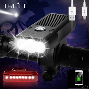 Trlife Bicycle Light L2 / T6 USB Recargable 5200mAh Bike Light IPX5 Faro a prueba de agua a prueba de agua como Banco de energía Accesorios para bicicletas Q1202