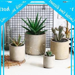 Round and square cement flower pot mold home decoration crafts succulent plants concrete planter vase molds