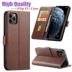 Caso de couro de luxo para iPhone 12 pro 11 max 7 8 mais xs xr max wallet flip capa hands fivela grátis fundos