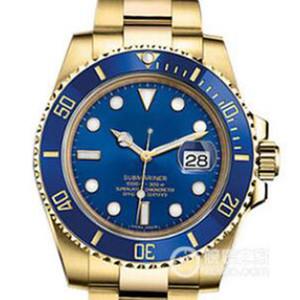 Tabie821219 Fornece 40 mm 18k Gold Watch Case e Calendário de Calendário Super Nightlight 200m à prova d'água