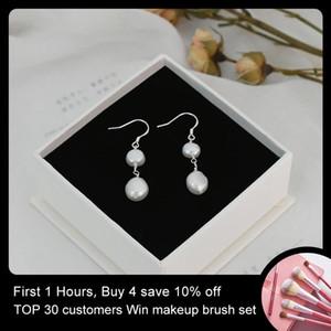 Ashiqi naturale freshwater barocco barocco perla 925 orecchini argento sterling gioielli regali donne