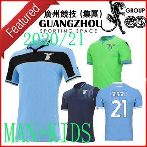 20 21 Lazio Cup League Soccer Jerseys Away Green Third 2020 2021 Camisetas de fútbol Special Luis Immobile Men Kits Kits Maglia da Calcio
