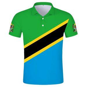 TANZANIA POLO shirt diy free custom made name tza POLO shirt nation flag tz tanzanian swahili country print photo text clothing