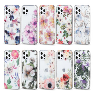 Wholesale Shockproof Customized Print Flower Full Cover Fitted Mobile Phone Case for iPhone 12 Pro Max 11