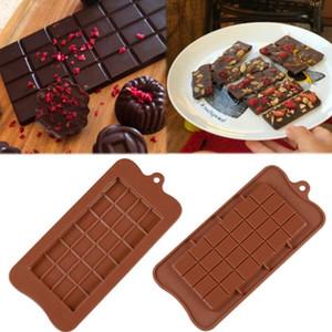 24 Gitter quadratische Schokoladenform Silikonform Dessert Block Mold Barblock Eis Silikon Kuchen Süßigkeiten Zucker Backform BWE3133