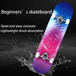 Skateboard two-bridge four-wheel adult children general professional maple vitality board can be customized