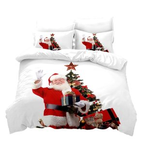 Cartoon 3D Printed Pillowcases Bedding Set Queen King Size Dropshipping Boy gift Merry Christmas Happy New Year YB0614