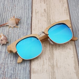 2019 New Fashion Polarized Woman and Men Travel Bamboo Wood Sunglasses Uv400 with Glasses Case Handmade